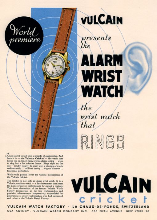 1947 - The first watch that rings #alarmwatch