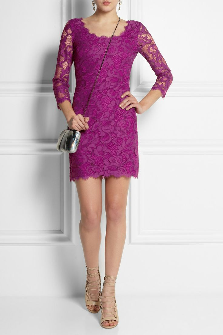 Diane von Furstenberg | Zarita cotton-blend lace mini dress | NET-A-PORTER.COM