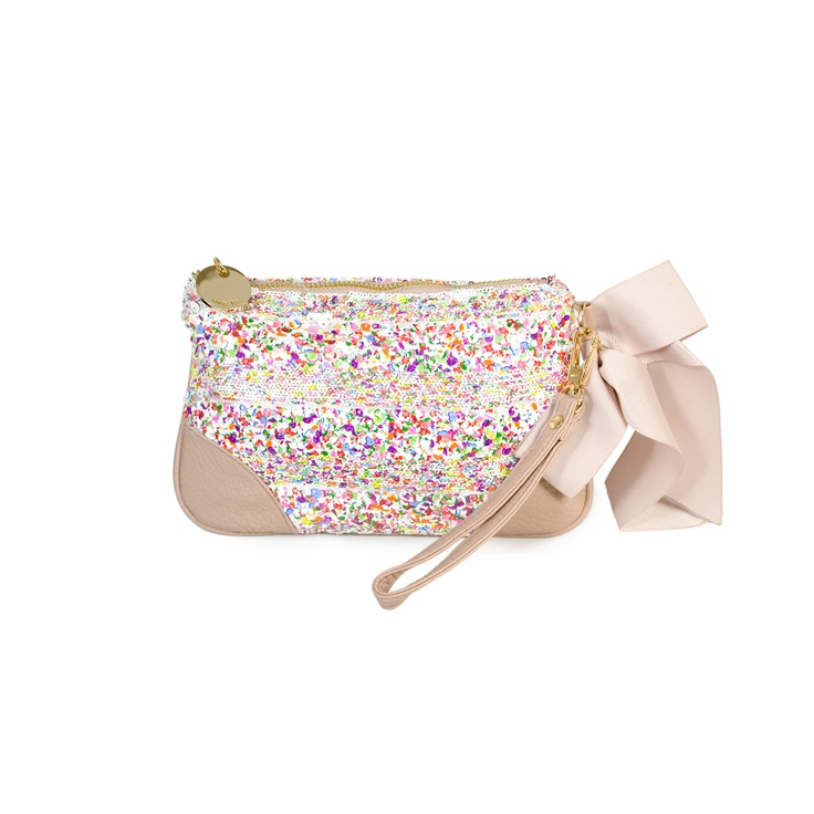 This clutch is completely covered in sequins!!!