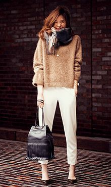 Neutral-toned casual work outift | Fall Winter Fashion