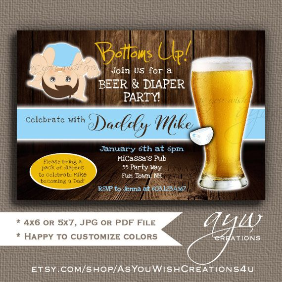 the 25+ best diaper party invitations ideas on pinterest | diaper, Party invitations