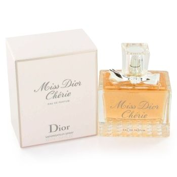 Miss Dior (Miss Dior Cherie) by Christian Dior - Eau De Parfum Spray (New Packaging) 3.4 oz by Christian Dior Miss Dior Cherie by the design house of Christian Dior introduced this elegant modern fragrance in 2005. The bottle maybe new but it's design was inspired by the classic. An amazing blend of strawberry leaves and green mandarin open up this scent. Then blends into a violette, pink jasmine and strawberry sorbet which finishes off with fresh patchouli, musk and crystalline.
