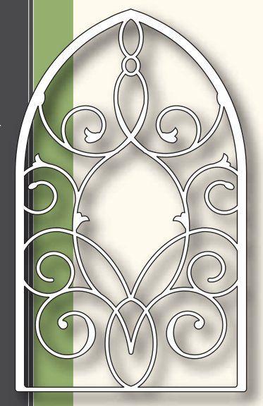 Grand Gothic Iron Work Window Die