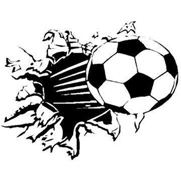 SODIAL(R) Soccer Ball Football vinyl Wall Sticker Decal Kids Room Decor Sport Boy Art Bedroom,s2002