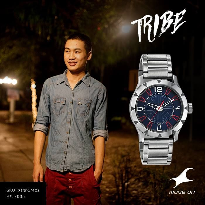 Go against the grain. Go with your #Tribe http://fastrack.in/products/watches/sku-3139sm02/