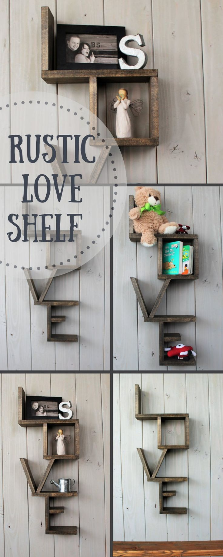 This wooden shelf is the perfect statement piece to add to any room.  Beautiful as a piece on it's own, or to display your family's treasures. Wonderful in a nursery, living room, bedroom or anywhere you wish to  display items. LOVE Perfection! :) #farmhousedecor #rusticdecor #rusticwoodshelf #handmadeshelf #shelf #ad