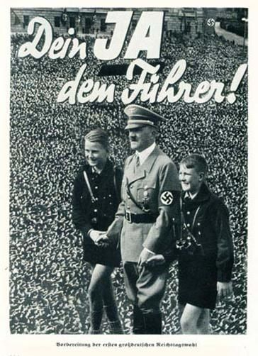 "German  WW2  ""Yes for the Fuhrer."" Often times, World War Two propaganda disturbs me deeply."