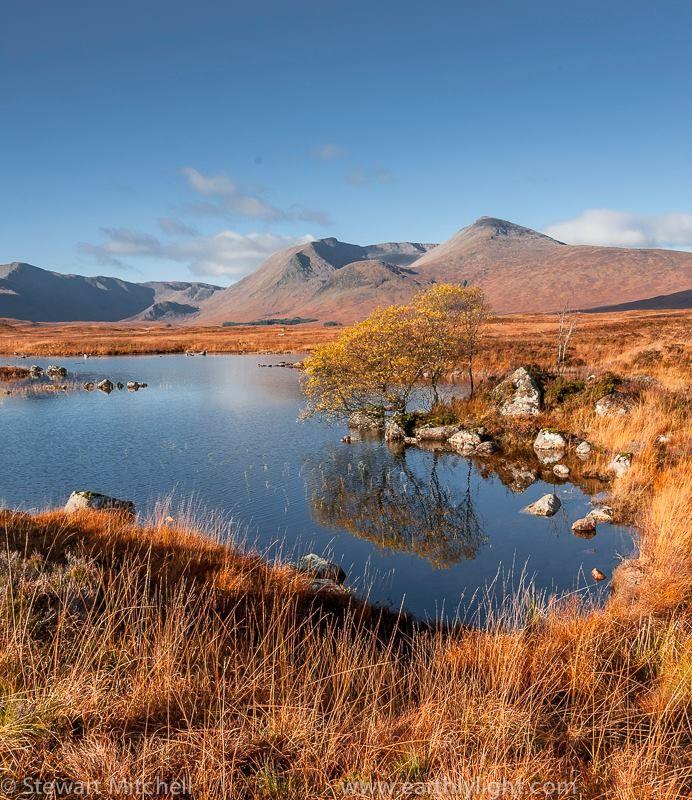 Lochan na h-Achlaise, Rannoch Moor in November
