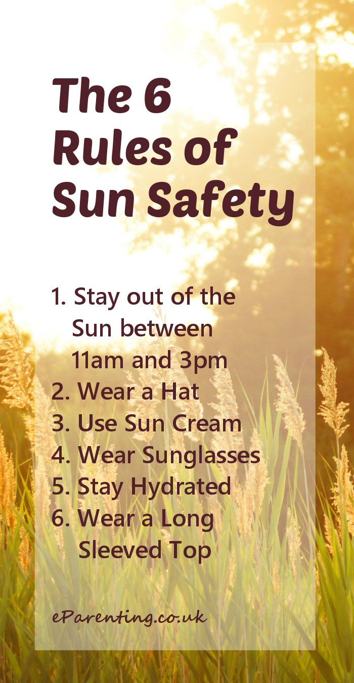 Stay safe this summer with 6 rules that will keep you from getting sunburned and help reduce the risk of skin cancer.