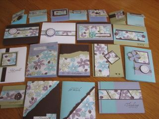 I made 20 cards from one 12 x12 sheet!!!
