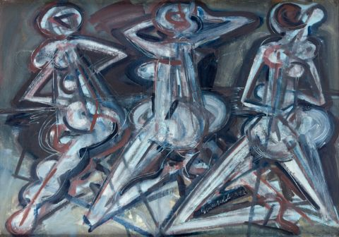 Načeradský Jiří (1939–2014)   Trio, 2003   Aukce obrazů, starožitností   Aukční dům Sýpka