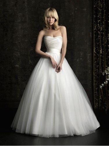 Elegant Sweetheart A-line Wedding Dress Tulle Bridal Gown 6-16 Or Veil |
