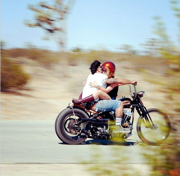Motorcycle Love On A Custom Harley Frenchys Bike From Powerplant Choppers