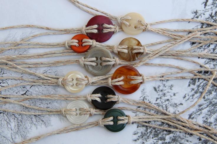 Cute as a button bracelet.Bracelets Anklets, 1 50, Sliding Knot, Diy Buttons Bracelets, Cute Ideas, 2012Cute, Hemp Jewelry, Naturales Neutre Colors, Jewelry Ideas