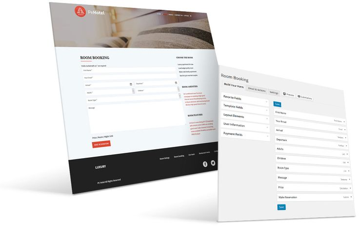 #hotel #WordPress #Theme room booking view