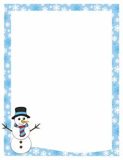 MOLTS BORDES GRATUITS - Snowman Border