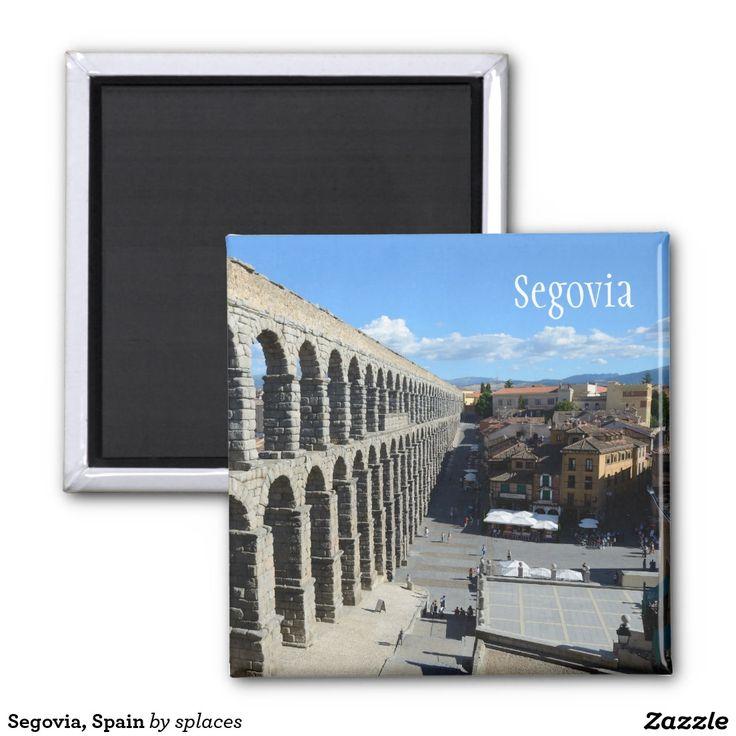 Segovia, Spain 2 Inch Square Magnet