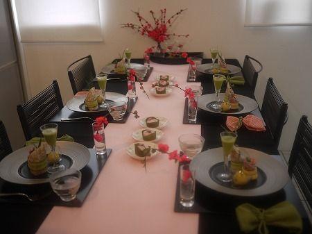 和モダンな桃の節句テーブル