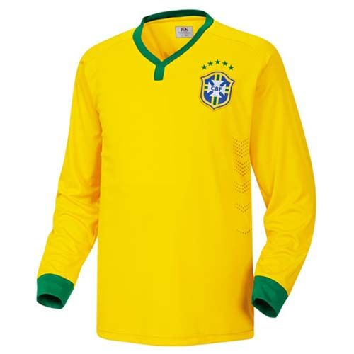 Brasil Soccer Jersey World Cup National Home Team  Easy & Unique! Make your own special look! Size : XS, S, M, L, XL, XXL (US Size) Material : 100% Polyester Color : Yellow Country of Manufacture : Made in Korea