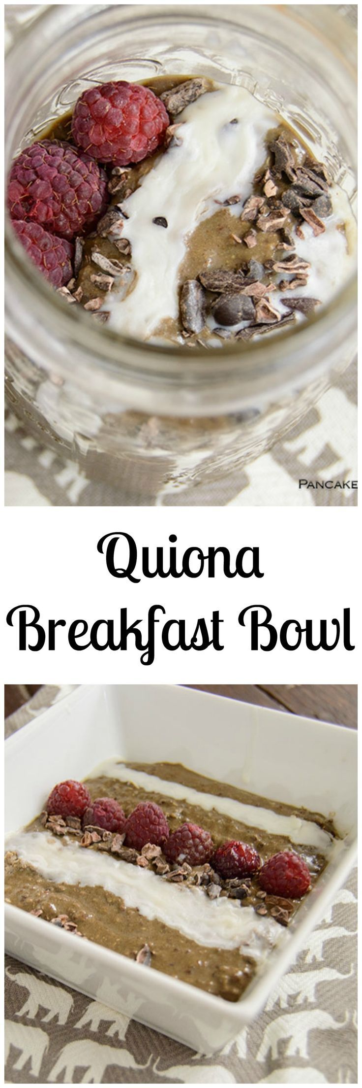 Healthy Quinoa Breakfast Bowl - ready for you in the morning - perfect way to start your day. Gluten free, high protein breakfast is perfect for on the go mornings.