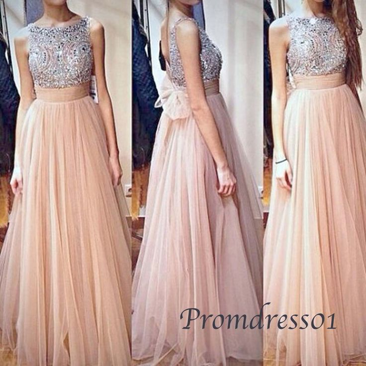 2015 elegant round neck sequins vintage chiffon long prom dress with sequins, beaded evening dress, ball gown, cute+dresses+for+teens #promdress #wedding
