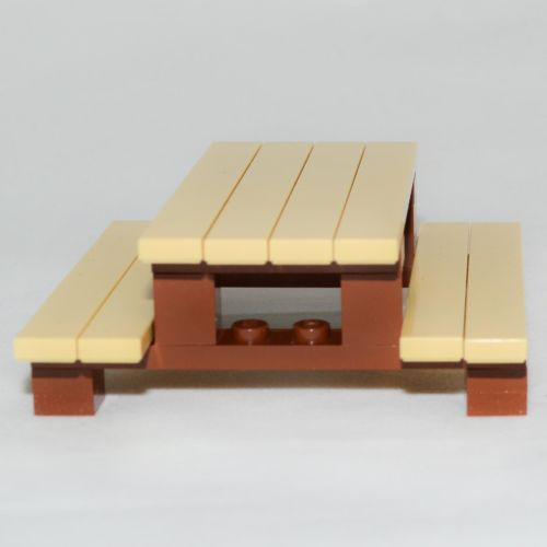 LEGO-Furniture-Picnic-Table-Set-w-Instructions-Parts-minifig-yard-house