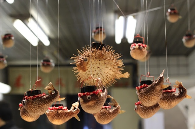 Blowfish Mobile in a Market in Kyoto