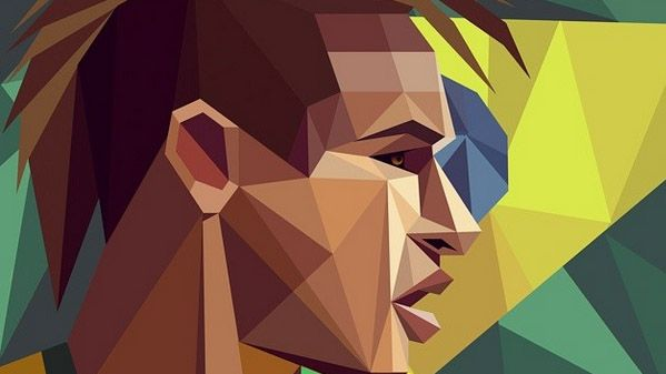 Desenho abstrato do Neymar