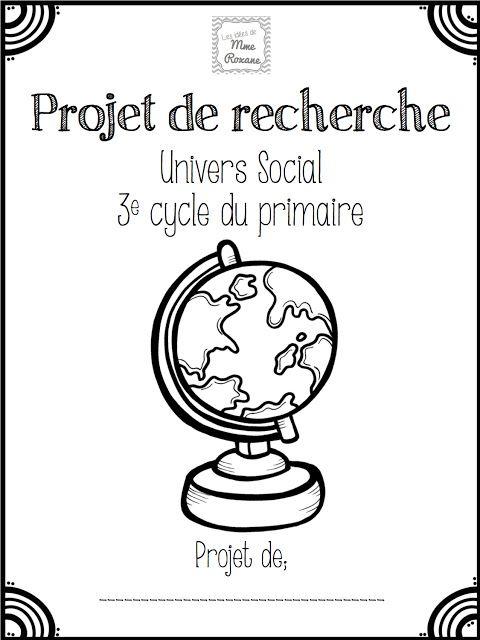 Les idées de Mme Roxane!: Recherche d'univers social