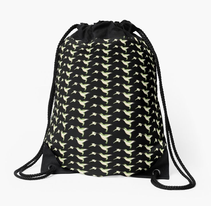 Hummingbird Drawstring Bag by AnMGoug on Redbubble. #bag #hummingbird #bird