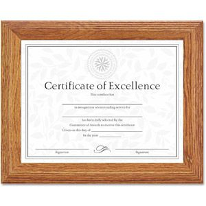dax documentcertificate frame wood 8 12 x 11 stepped oak