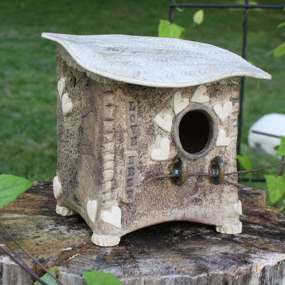 124 Best Images About Clay Birdhouses On Pinterest