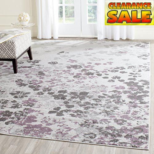 safavieh adirondack collection adr115l ivory and purple modern abstract area rug 8u0027 x 10u0027