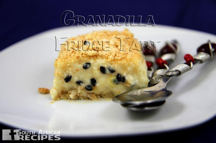 South African Recipes GRANADILLA FRIDGE TART (Priscilla Nel)