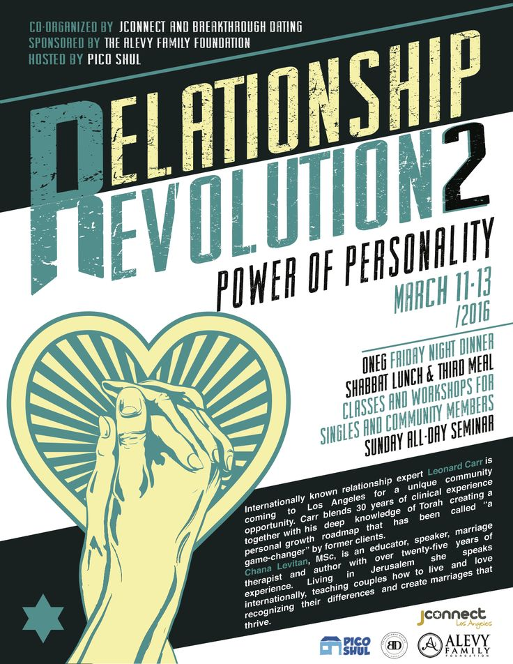 Relationship Revolution 2: Power of Personality - Event - Pico Shul