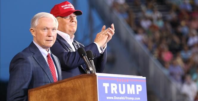 DRUDGE: SEN. SESSIONS TO ENDORSE TRUMP -  The conservative soul of the US Senate, Jeff Sessions, will endorse Trump this evening at a Huntsville, Alabama rally... The conservative soul of the US Senate, Jeff Sessions, will endorse Trump this evening at a Huntsville, Alabama rally...  This news will be delivered as a suprise to all 25k Alabamians in attendance at the Trump rally and all participating news media....Developing...