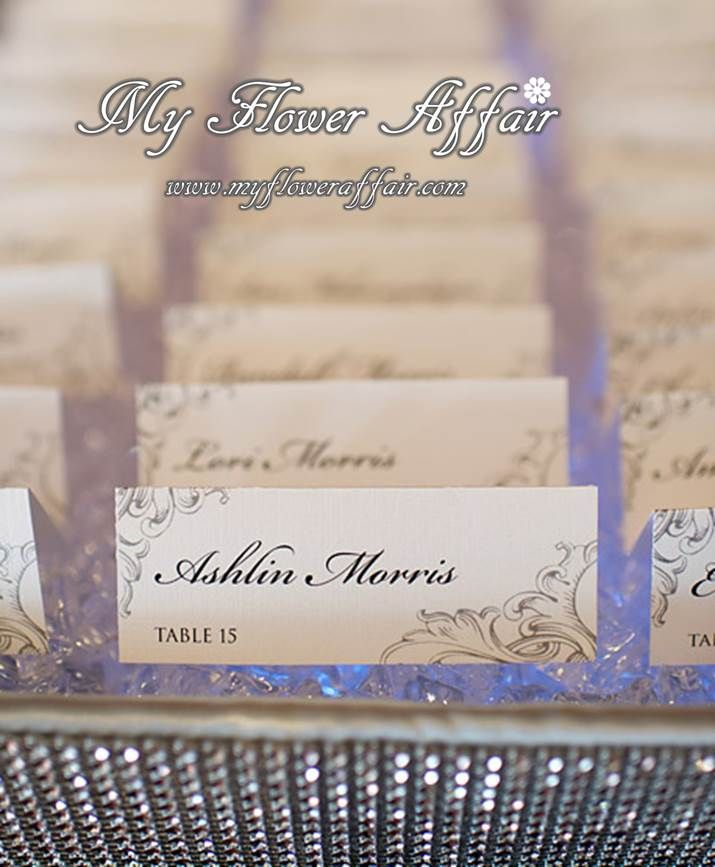 wedding up lit place card crystal place card holder by my flower affair www