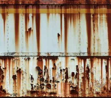 Rusty & worn feels familiar & sympathetic.