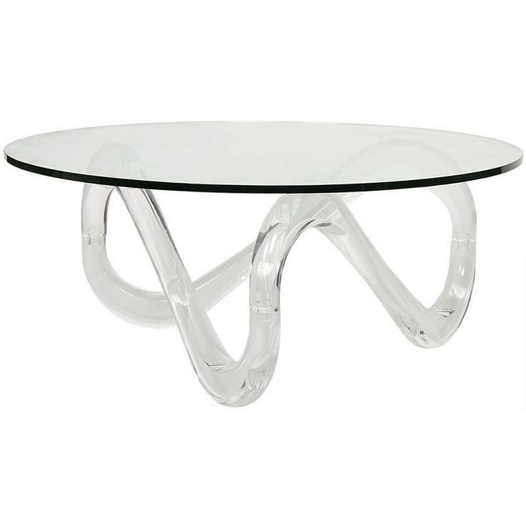 Noir Chase Coffee Table - Plexi Glass