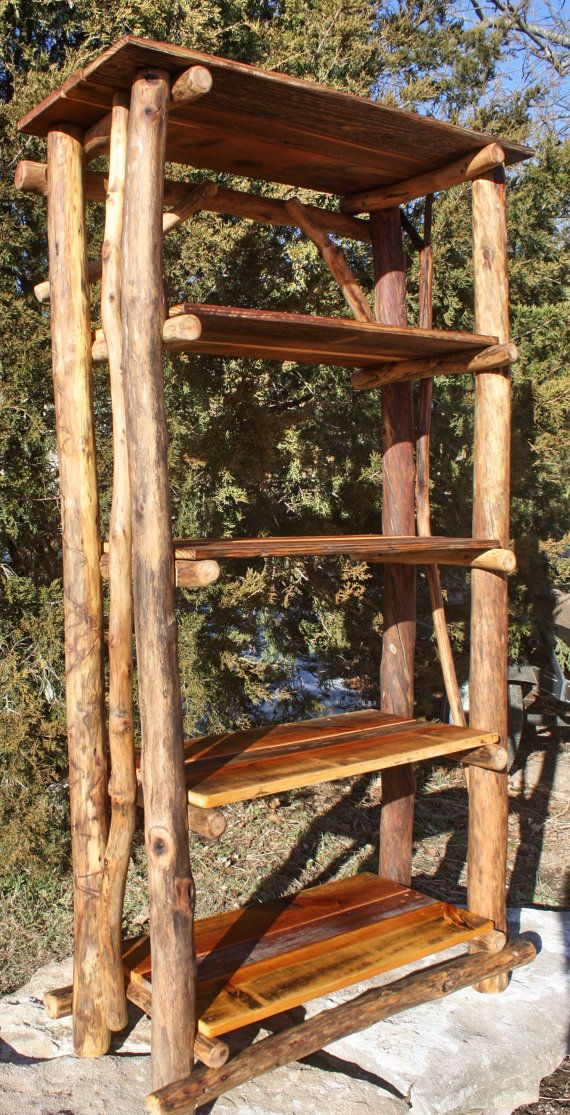 rustic bookshelf reclaimed wood rustic furniture by woodzyshop