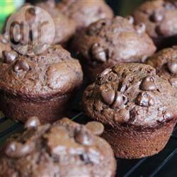 Foto da receita: Muffin de chocolate molhadinho