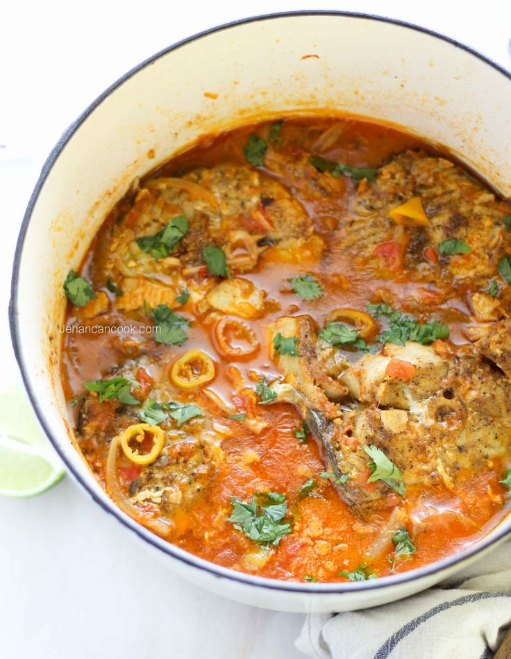 Caribbean King Fish Stew