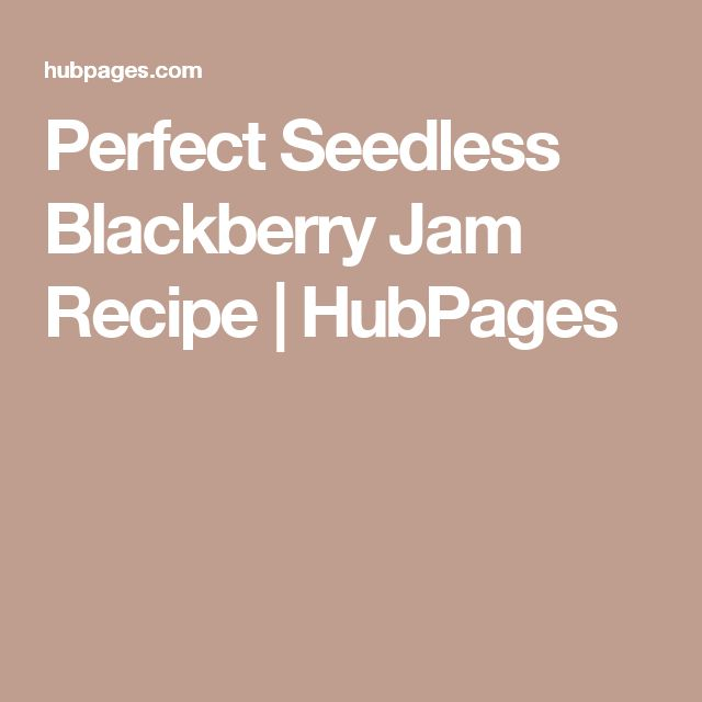 Perfect Seedless Blackberry Jam Recipe   HubPages