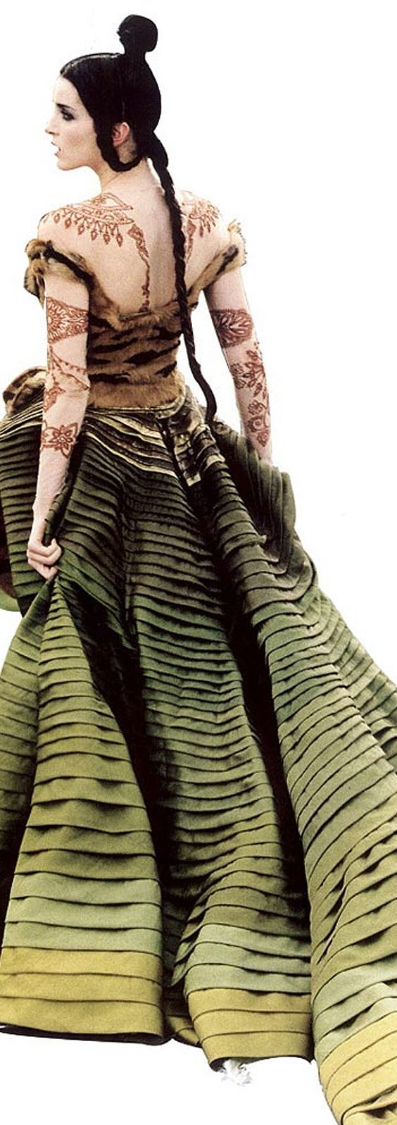 don't think it's real henna but....Christian Dior Haute Couture | F/W 1997