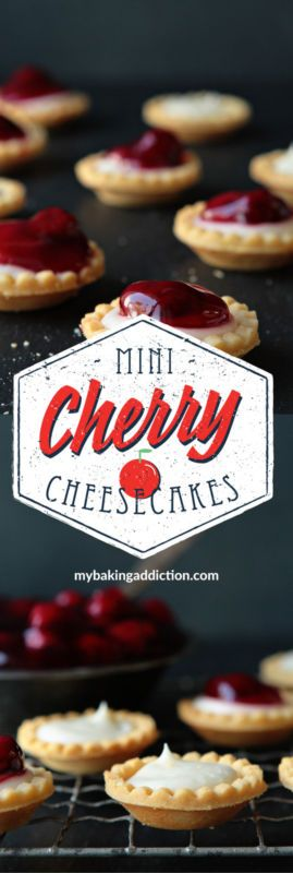Mini Cherry Cheesecakes in no time at all. They're perfect for parties or a simple weeknight dessert!