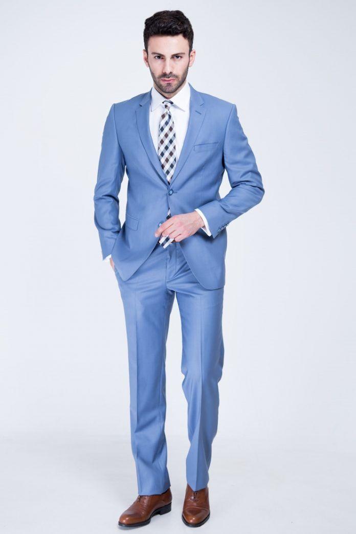 Açık Mavi Damatlık Modelleri, Takım Elbise Tasarımları