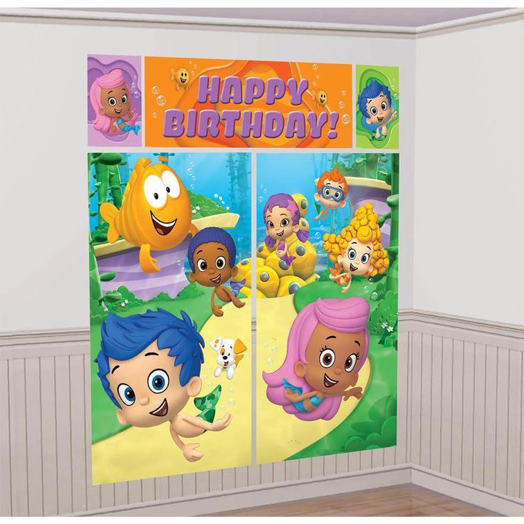 Bubble Guppies Wall Decorating Kit   BirthdayExpress.com