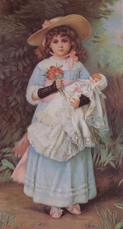 Новоиспеченной, открытки с винтажными куклами