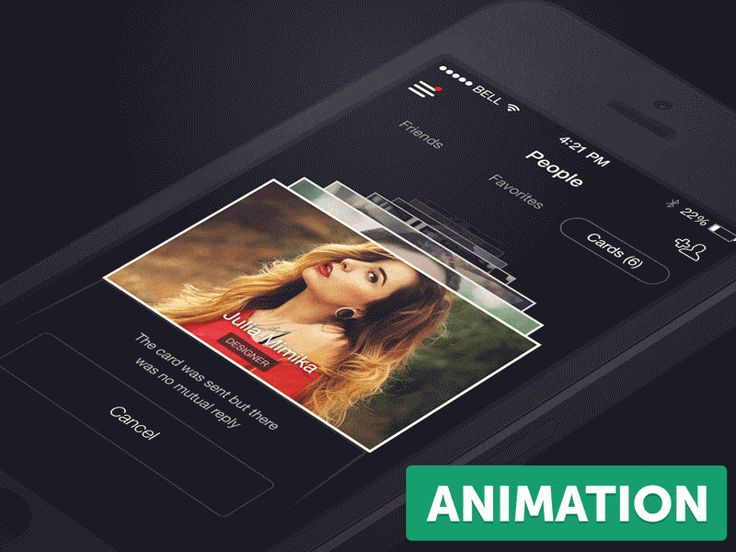 Animated UX Concepts for Mobile Applications