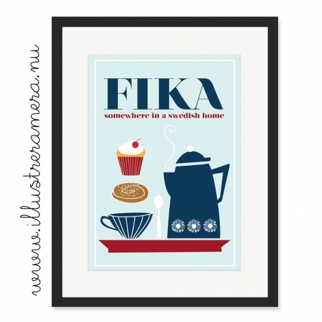 "Fika is both a Swedish verb and noun (pronounced ""fee-ka"") that roughly means ""to drink coffee/tea/squash,"" usually accompanied by something sweet."